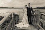 czarno-białe zdjęcie ślubne